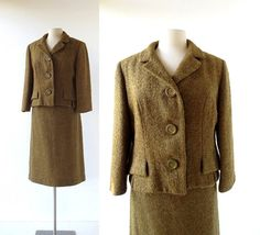 Hey, I found this really awesome Etsy listing at https://www.etsy.com/listing/478409586/vintage-1950s-suit-boucle-wool-suit