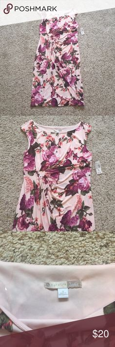 NWT Dress Barn Floral dress size 14 Brand new with tags Dressbarn pink and purple floral dress. Size 14. Super cute! Would hit right at the knee Dress Barn Dresses