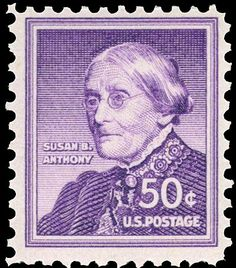 Susan B. Anthony, a US .50¢ stamp issued in 1954