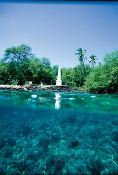 Captain Cook Monument, Kealakekua Bay on the Big Island.