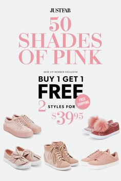 Go Pink This Spring - Get Your First 2 Styles for Only $39.95! Make sure you're up to date on the hottest new trends by signing up as a JustFab VIP. You'll enjoy a new boutique of personalized styles each month, as well as exclusive pricing, early access to sales & free shipping on orders over $39. Don't think you'll need something new every month? No problem – click 'Skip The Month' in your account by the 5th and you won't be charged. Take the Style Quiz today to get this limited time…