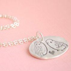 Snowy Owls Necklace  at shanalogic.com