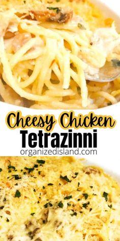 Chicken Tetrazinni, Chicken Tetrazzini Recipes, Casserole Recipes, Pasta Recipes, Chicken Recipes, Cheese Recipes, Soup Recipes, Lunch Recipes, Dinner Recipes
