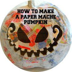 Posts about Paper Mache Pumpkins written by Nikitaland Making Paper Mache, Paper Mache Crafts, Holidays Halloween, Halloween Crafts, Halloween Season, Halloween Stuff, Halloween Ideas, Halloween Decorations, Autumn Crafts