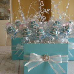 DIY Tiffany Blue Cake Pops