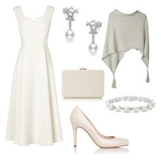 """""""Cocktail in the garden of Peles Castle for 'Hopes and Homes for Children' foundation"""" by dresslikearoyal on Polyvore featuring L.K.Bennett, Mikimoto, Judith Leiber and Tiffany & Co."""