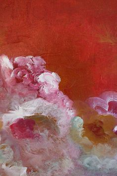 Original Colorful Flowers Abstract Expressionism by SwallaStudio