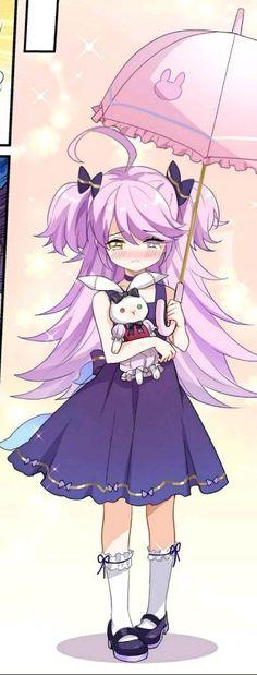 Kawaii Anime Girl, Purple Hair, Cool Girl, Anime Art, Character Design, Guns, Drawings, Girls Girls Girls, Stuff Stuff