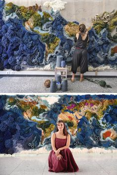 Recycled Textiles Make Ocean Tapestry by Vanessa Barragão