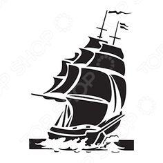 купить Трафарет пластиковый Cadence «Корабль» Cadence Трафареты, онлайн магазин, заказ и доставка по России, Москве и Санкт-Петербургу