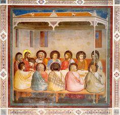 Giotto.Padova, cappella degli Scrovegni. L'ultima cena