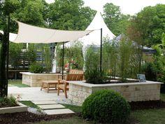 Jardin Cosy avec l'utilisation de la pierre reconstituée de PIERRA.