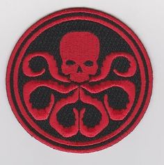 a7ca2386f65 AVENGERS CAPTAIN AMERICA MOVIE COMIC HYDRA 100% EMBROIDERED IRON ON PATCH  Captain America Movie