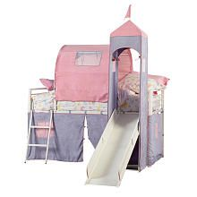 Princess Castle Twin Size Tent Bunk Bed with Slide perfect for my little princess!