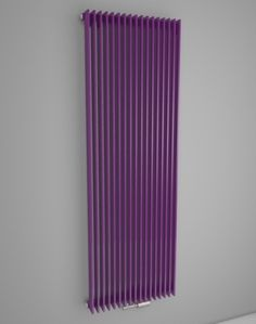 Designer radiator with maximum heat output. Vertical room radiator. Central heating radiator. Coloured radiator - available in 216 colours. Made-to-measure radiators. Delivery: 4 weeks. http://www.hothotexclusive.com/en/eshop/radiators-in-signal-violet-colour-ral-4008/royal-hroy/?proportion_type=1&proportion=860&color=54&heating=1
