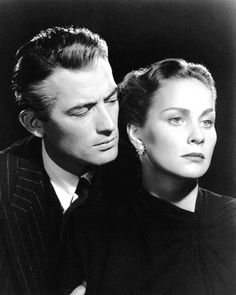 Gregory Peck and Alida Valli in The Paradine Case (Alfred Hitchcock, 1947)