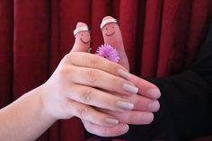 Eine Idee für ein außergewöhnliches Hochzeitsfoto