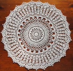 Crochet doily white lace doilie by Draiguna on Etsy