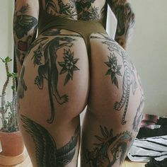 "8,592 Likes, 60 Comments - Ink Tease Magazine (@inkteasemag) on Instagram: ""One of the best tatted bums out there!! @moldiegoldies #Tatted #Tattoo #Tattoos #TattedUp…"""