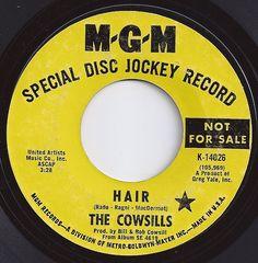 Hair / Cowsills / on Billboard Old Records, Vinyl Records, Fun Music, Record Art, Childhood Days, Old Shows, Music Radio, Popular Music, Great Memories
