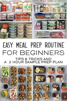 Meal prep tips and tricks for beginners. From ways to save money and recipe ideas to a sample 2 hour prep, this guide will have you covered for a quick and easy healthy meal prep! Easy Healthy Meal Prep, Easy Healthy Recipes, Healthy Snacks, Healthy Sweets, Health Meal Prep, Fitness Meal Prep, Healthy Premade Meals, Healthy To Go Meals, Quick And Easy Snacks