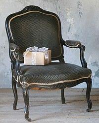 1910 Antique Black Louis XV French