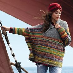 VK is the largest European social network with more than 100 million active users. Knitting Yarn, Fair Isle Knitting, Hand Knitting, Knitwear Fashion, Knit Fashion, Knitted Poncho, Knit Jacket, Knitting Designs, Knit Patterns
