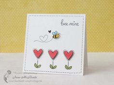 Lawn Fawn BEE MINE Clear Stamps LF439 in 2020 | Bee valentines cards, Valentine cards handmade, Vale