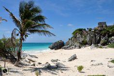 Le site archéologique de #Tulum et sa plage paradisiaque - #Yucatan #Mexique - © Jonathan Guyot sur www.carnetsolidaire.com