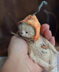 Тыковка светленький (10см) - мишка,мишка тедди,Маленький мишка,миша,коллекционный мишка