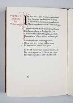 Willem Kloos, Verzen uit de jaren 1880-1890. 's-Gravenhage, De Zilverdistel, 1919, p. 60. MM: B 002 E 036.