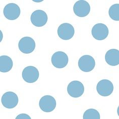 Lunares azules grandes sobre fondo blanco