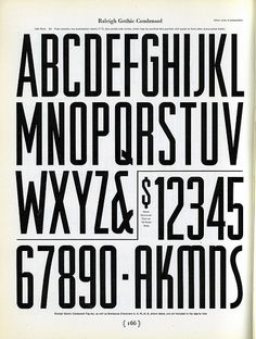 Raleigh Gothic Condensed by Depression Press, via Flickr