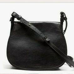 326a2a43cff0 Banana Republic Leather Crossbody Bag Black Crossbody Purse