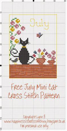 http://happinessiscrossstitching.blogspot.com.es/p/mini-cat-cross-stitch-freebies.html