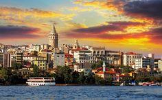 Istanbul Sunset Landscape   Viajando