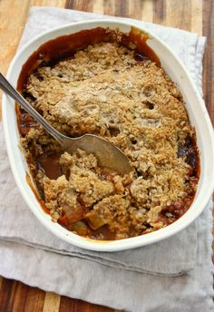 Something about the way the fruit bubbles up from under the crust and creates a toffee-like sauce around the edges, and that sweet buttery topping…
