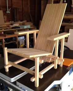 No. 917 Cypress Rietveld-Style Outdoor Chair