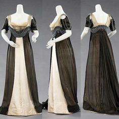 Evening dress, by the House of Worth, ca. 1909-1911. Metropolitan Museum of Art.