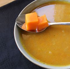 Pumpkin and red lentil soup | I try to eat healthy
