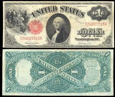 u.s. one dollar bill | USA , U.S.Note , 1 dollar, P187, 191