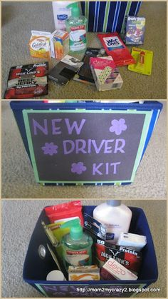 Running away? I'll help you pack.: Sweet 16 - New Driver Survival Kit Running away? I'll help you pack.: Sweet 16 – New Driver Survival Kit Sweet 16 Gifts, Easy Gifts, Creative Gifts, Homemade Gifts, Cute Gifts, Sweet Sixteen Gifts, Bff Gifts, Friend Gifts, Sweet 16 Presents