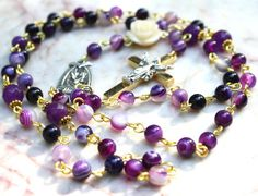 Hey, I found this really awesome Etsy listing at https://www.etsy.com/listing/234209473/traditional-rosary-necklace-purple-agate