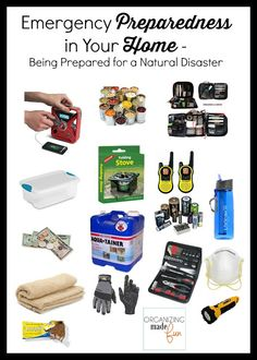 Emergency preparedness in your HOME supplies :: OrganizingMadeFun.com