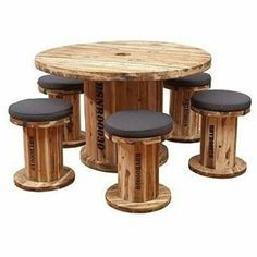 All Time Best Wood Working Videos Ideas Earth de Fleur Homewares - BOB Senior Spindle Table & Chair Outdoor Dining Patio Setting Recycled Furniture Recycled Furniture, Pallet Furniture, Rustic Furniture, Garden Furniture, Outdoor Furniture, Furniture Design, Balcony Furniture, Furniture Ideas, Wooden Spool Tables