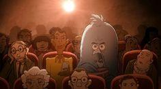 VIDÉO - Grâce à l'astucieux court métrage d'animation réalisé par Sylvain Chomet, le chanteur belge dénonce l'utilisation néfaste de Twitter notamment grâce à un adorable petit oiseau bleu qui accompagne les humains et devient vorace en grandissant.