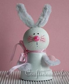Easter Clay Pot Bunny ~ Cute!