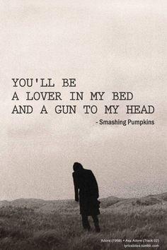 a szerelmem leszel az ágyamban és a fegyver a fejemnél