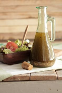 The BEST homemade vinaigrette salad dressing recipe. Only real ingredients make this homemade vinaigrette salad dressing recipe.