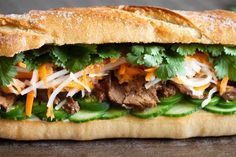 I love any kind of fusion food; Korean tacos, ramen burgers, BBQ nachos,  cronuts, you name it - but the banh mi sandwich is definitely one of the OG  fusion foods.
